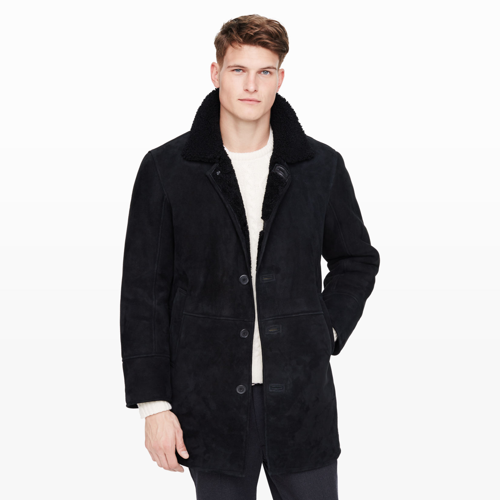 men outerwear shearling coat club monaco #0: p lifestyle flyout main iv vrzqz1 wid 1650 hei 1650 fit fit 1