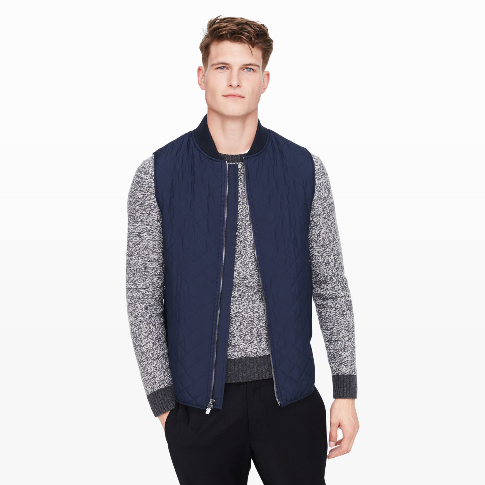 Men | All Sale | Quilted Hacking Vest | Club Monaco : quilted vests for men - Adamdwight.com