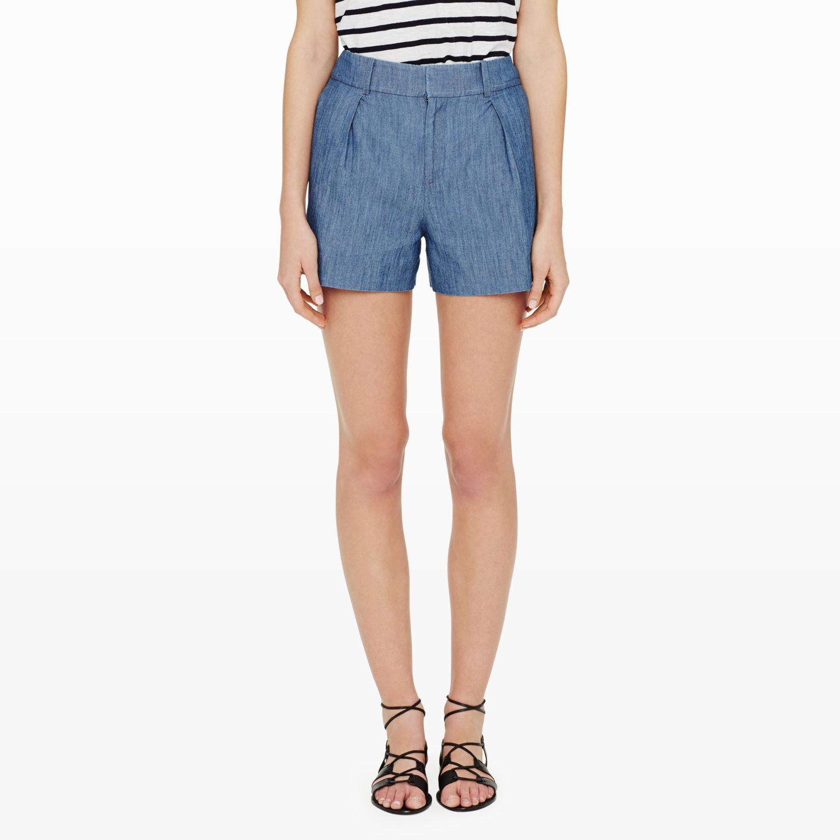Womens | Shorts | Pergie High Waisted Shorts | Club Monaco