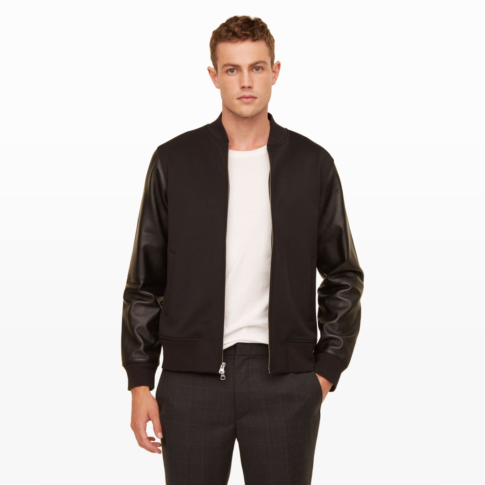 Men | | Neoprene Bomber Jacket | Club Monaco Canada