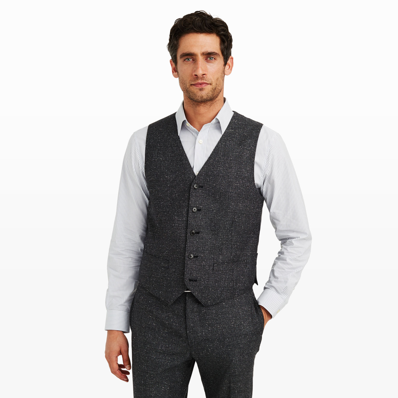 Men | Suits | Grant Herringbone Vest | Club Monaco