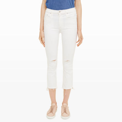 Womens | Jeans | Mother Insider Crop Step Fray | Club Monaco