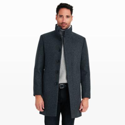 Men | Outerwear | Funnel-Neck Topcoat | Club Monaco