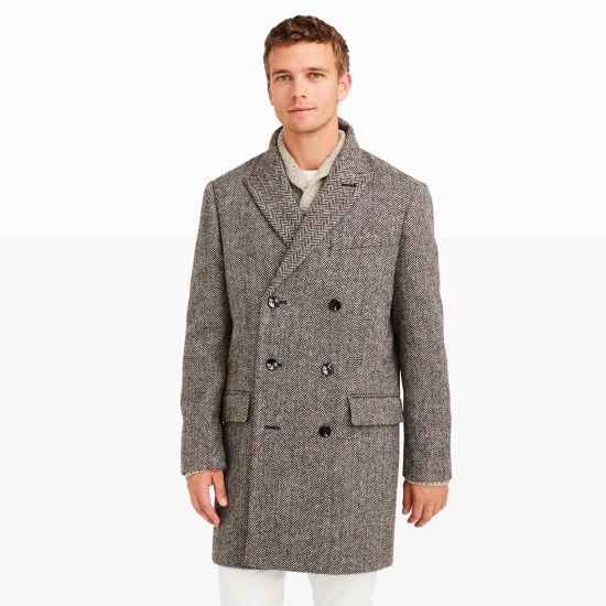 Men | Outerwear | Herringbone Topcoat | Club Monaco
