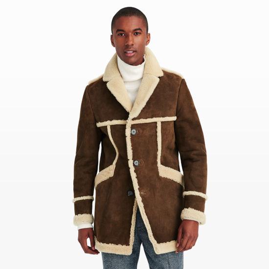 Men | Outerwear | Crombie Shearling Coat | Club Monaco