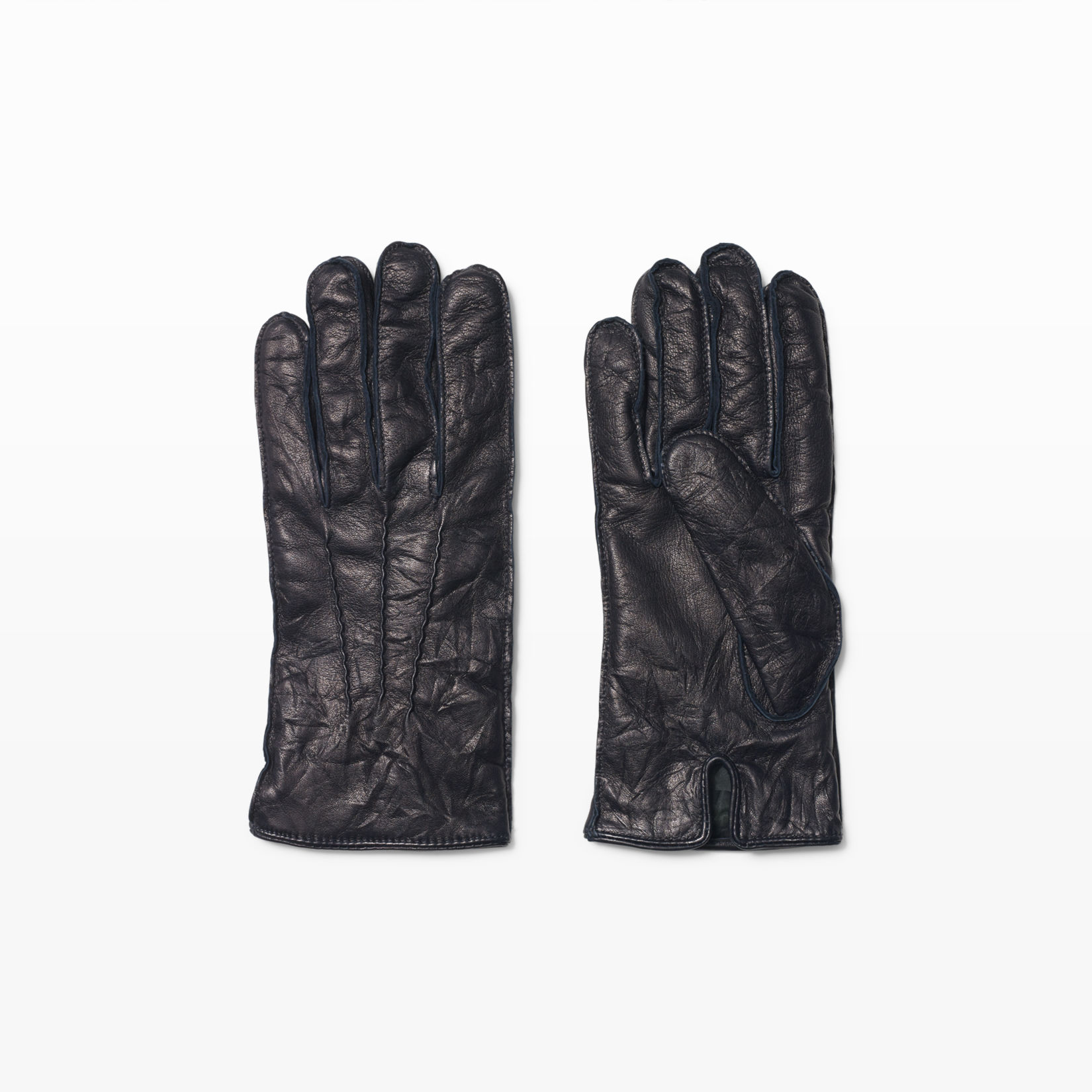 Mens leather gloves grey - Men Washed Leather Glove Club Monaco