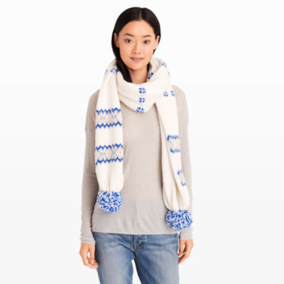 Women | Accessories | Kerioth Fair Isle Scarf | Club Monaco