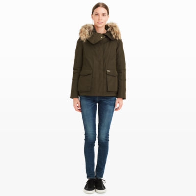 Women | Coats and Trench Coats | Woolrich Short Military Parka ...