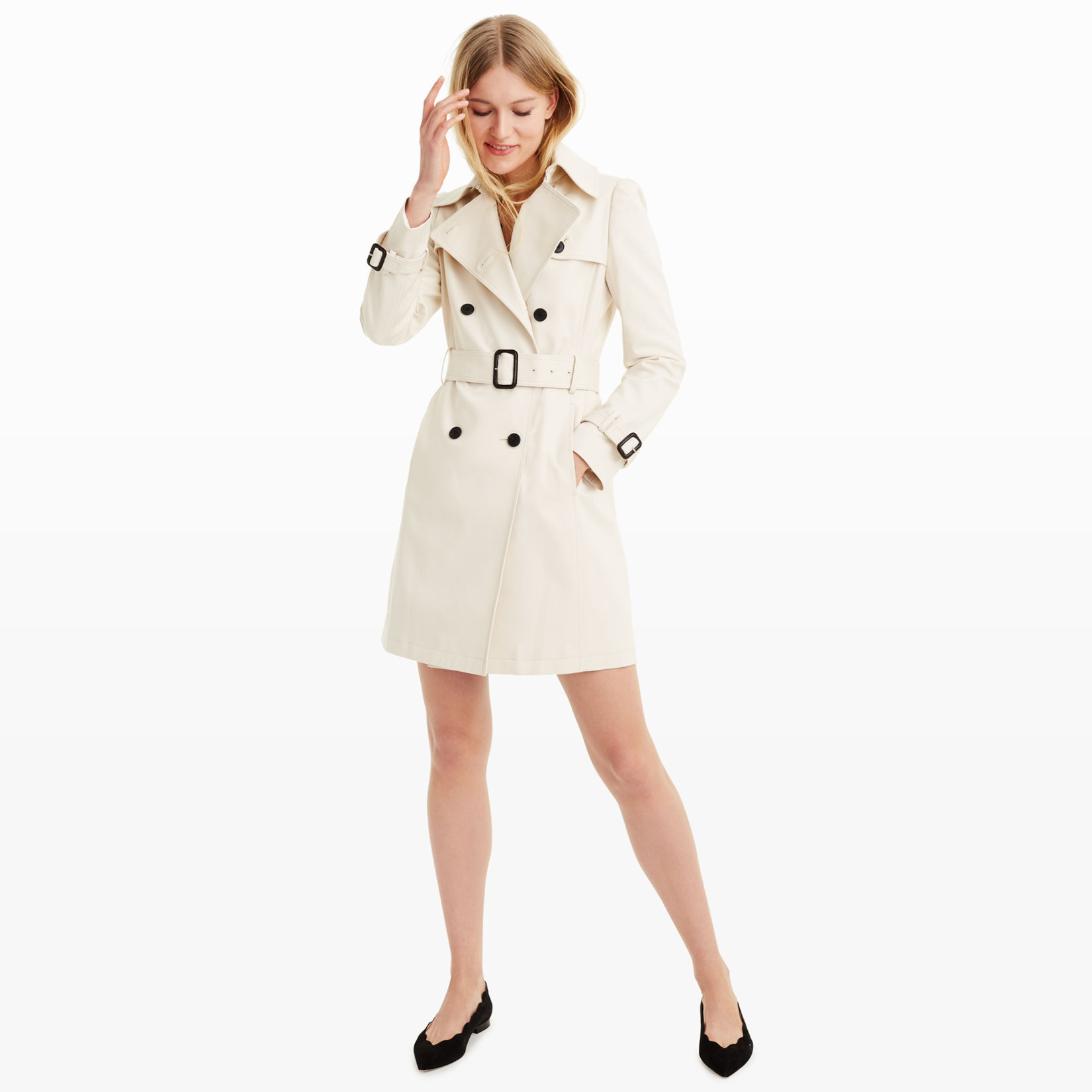 Womens | Coats and Trench Coats | Lamae Trench Coat | Club Monaco