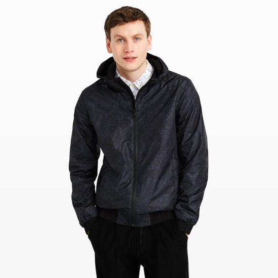 Men   Outerwear   Reversible Paisley Rain Jacket   Club Monaco Canada