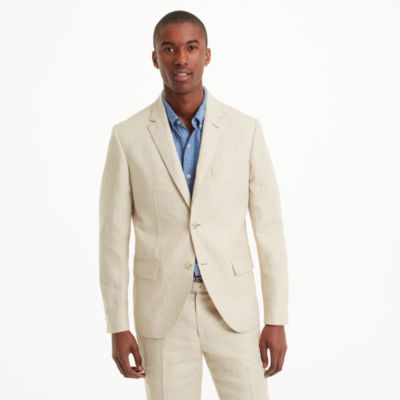Men | Suits | Grant Houndstooth Linen Blazer | Club Monaco