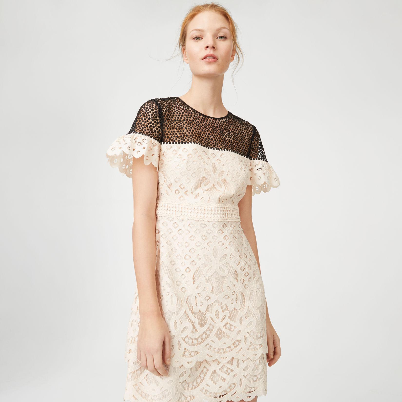 Großartig Lace Dress Cocktail Galerie - Brautkleider Ideen ...