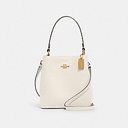 SMALL TOWN BUCKET BAG - IM/CHALK LIGHT SADDLE - COACH 1011