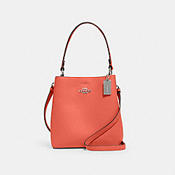 SMALL TOWN BUCKET BAG - SV/TANGERINE TAUPE - COACH 1011