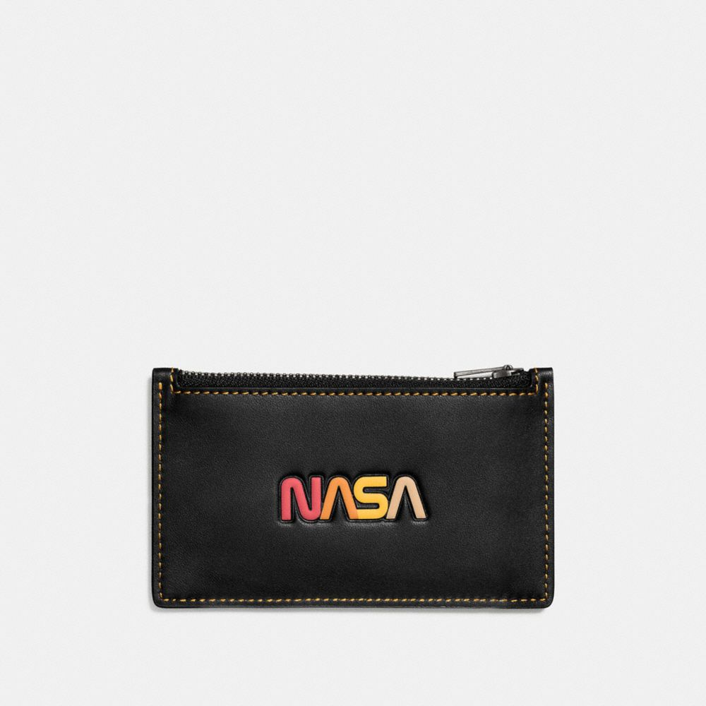 ZIP CARD CASE WITH EMBOSSED SPACE