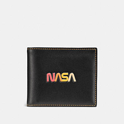 3-IN-1 WALLET IN GLOVETANNED LEATHER WITH NASA
