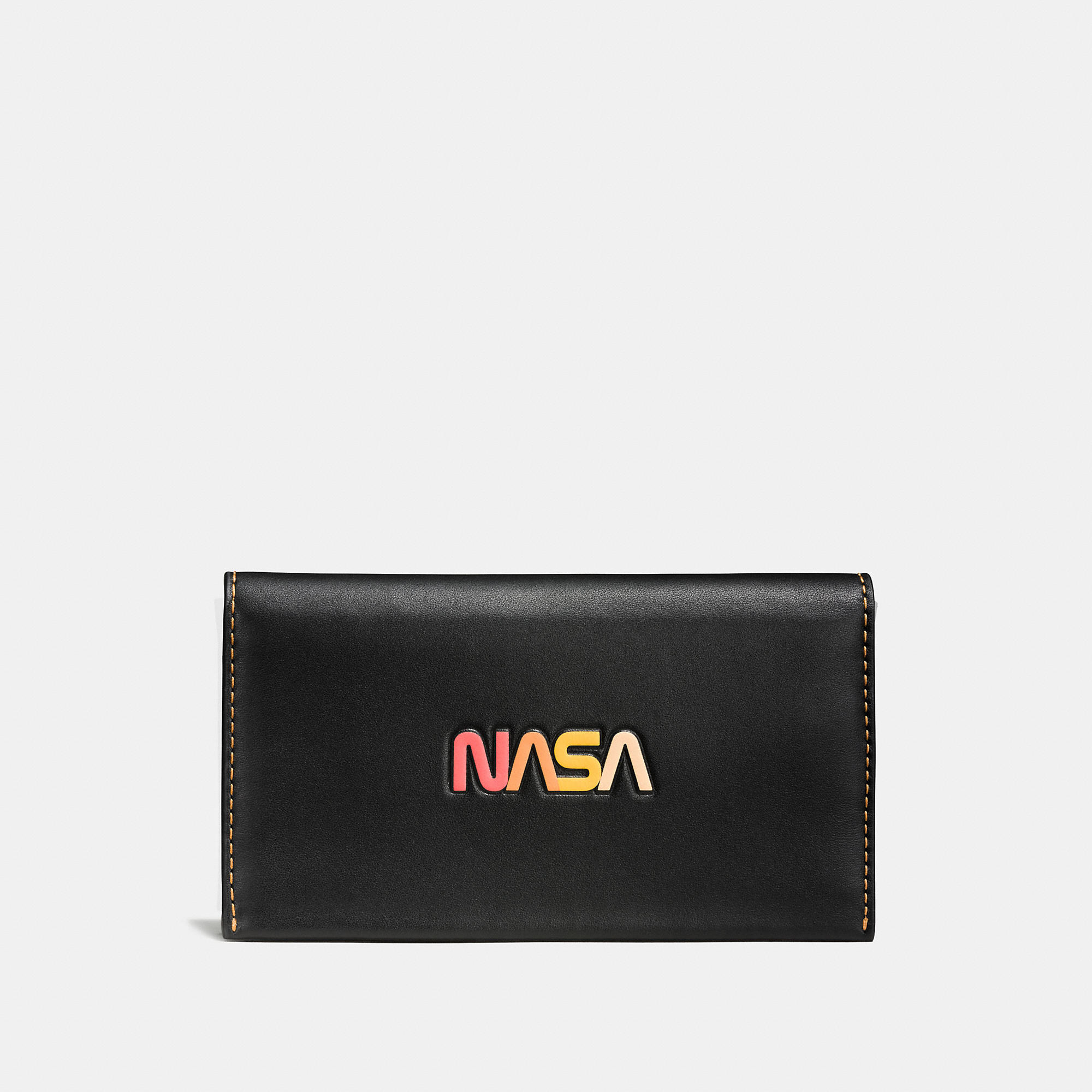 Coach Phone Wallet In Glovetanned Leather With Embossed Space