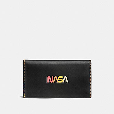 PHONE WALLET IN GLOVETANNED LEATHER WITH NASA