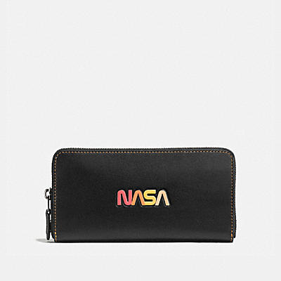 ACCORDION WALLET IN GLOVETANNED LEATHER WITH NASA
