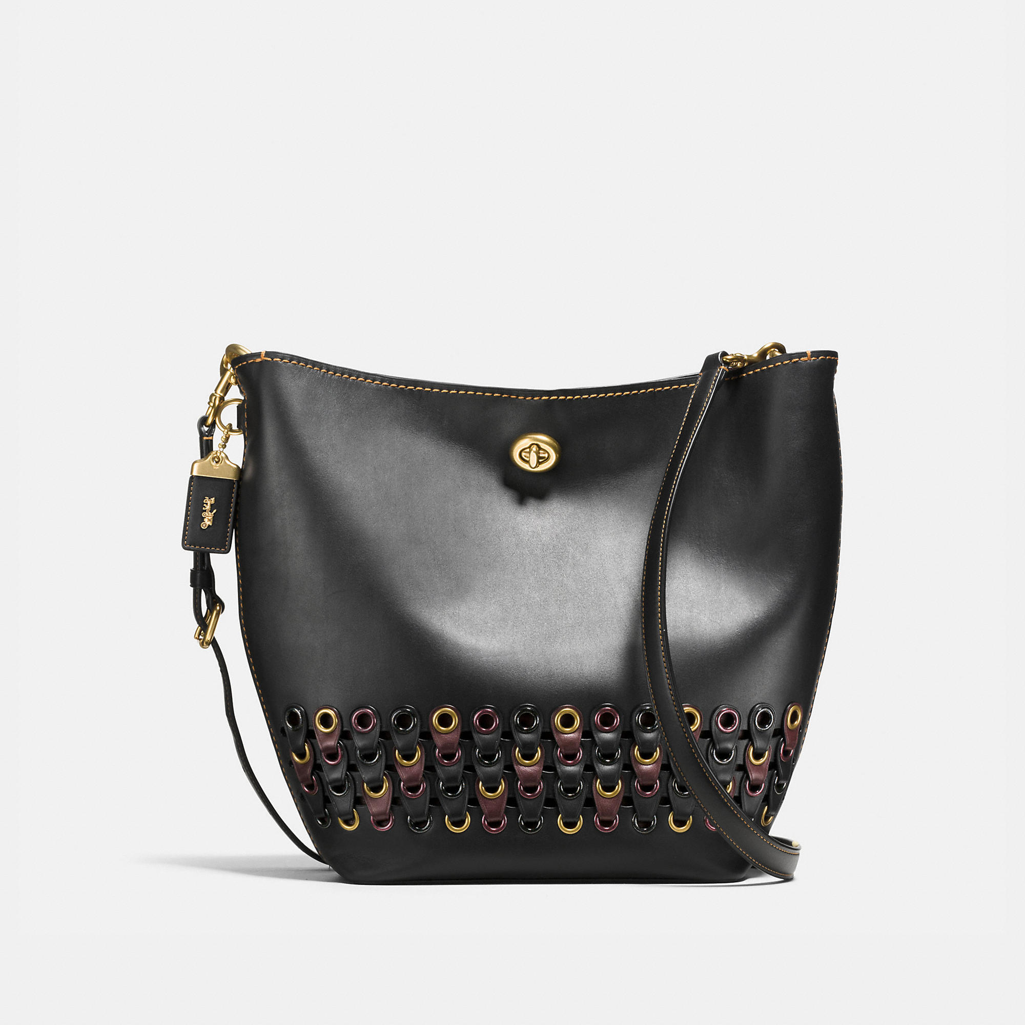 Coach Duffle Shoulder Bag With Link Detail