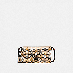 DINKIER WITH SNAKESKIN COACH LINK - BEECHWOOD MULTI/BLACK COPPER - COACH 10502