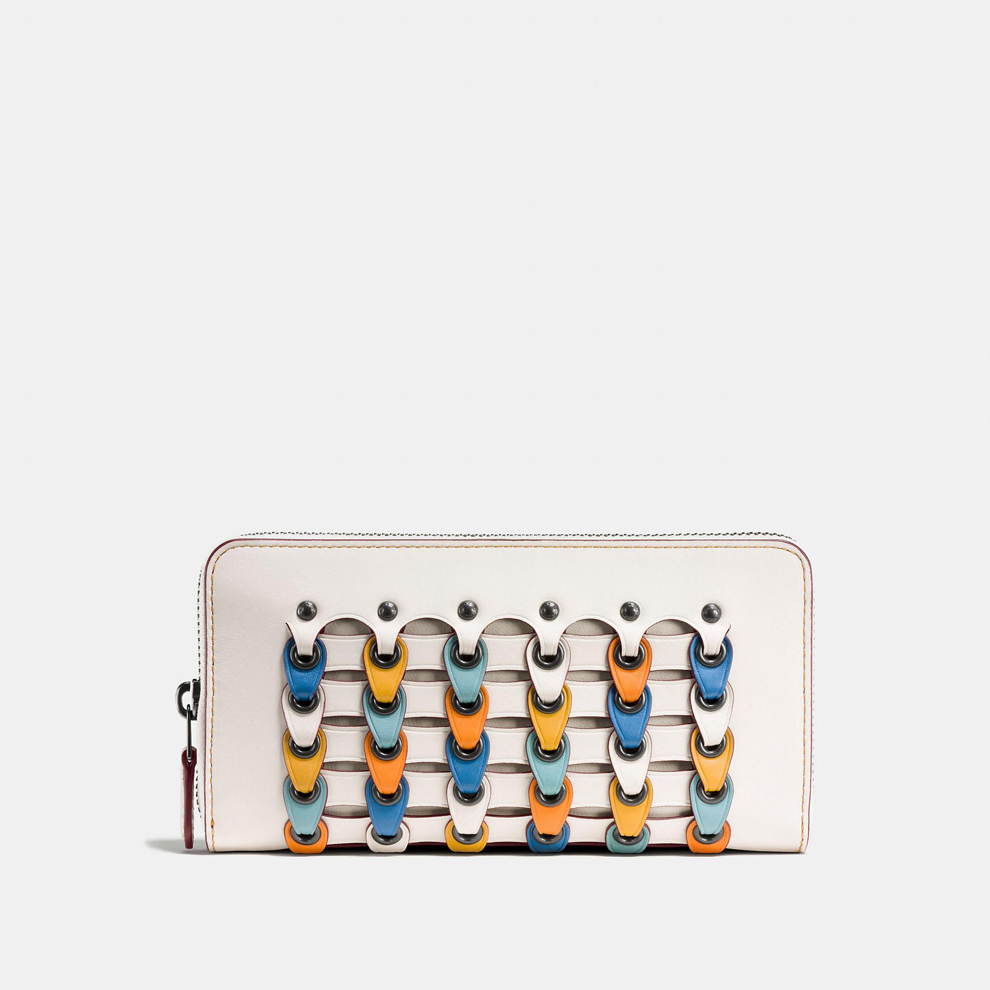 Coach Accordion Zip Wallet With Colorblock Link