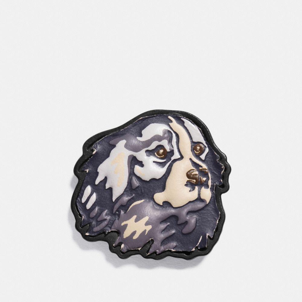 VINTAGE DOG LEATHER PIN