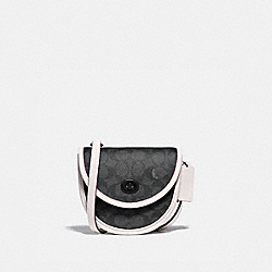 TURNLOCK CONVERTIBLE CROSSBODY IN SIGNATURE CANVAS - CHARCOAL/ CHALK - COACH 106