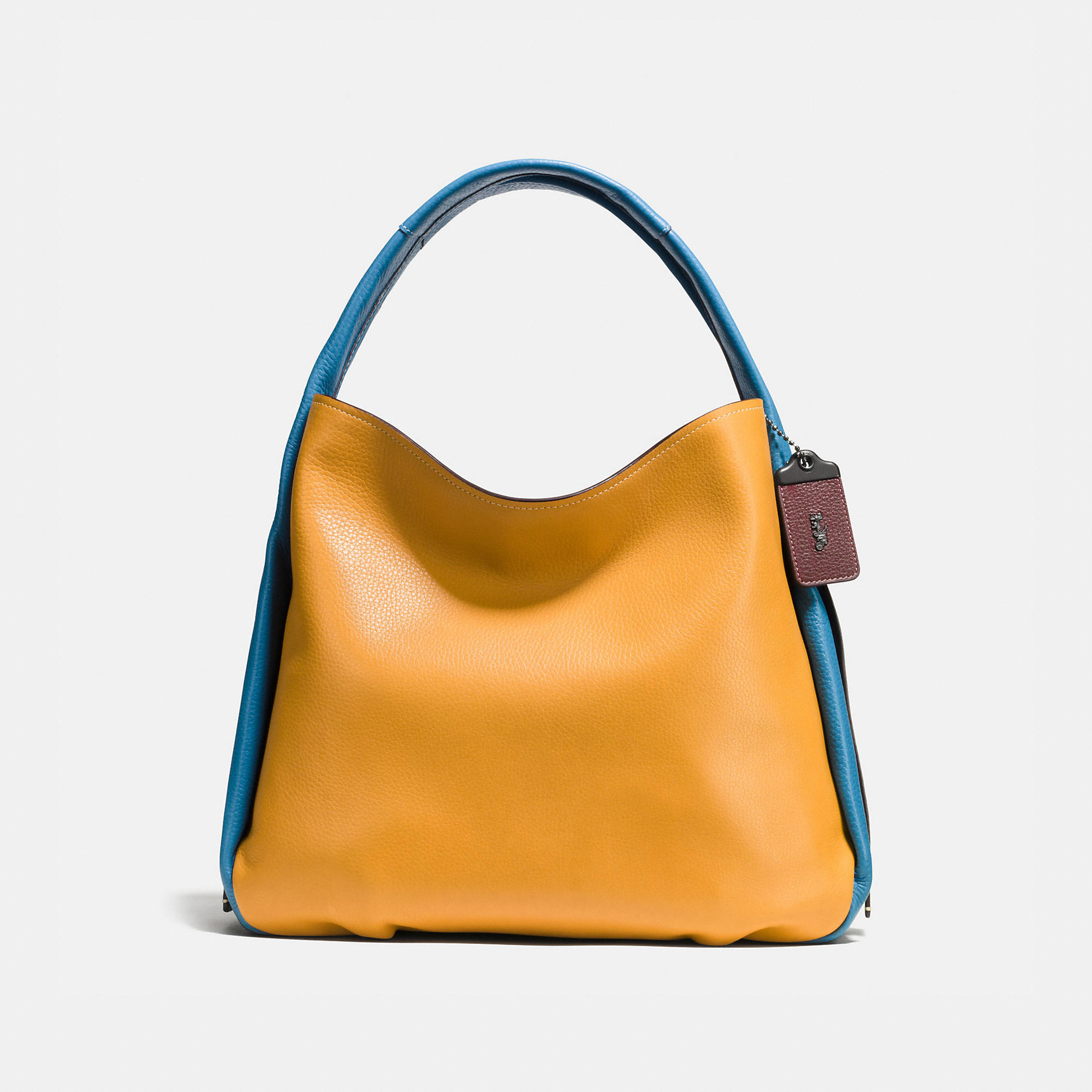 Coach Bandit Hobo 39 In Colorblock Leather