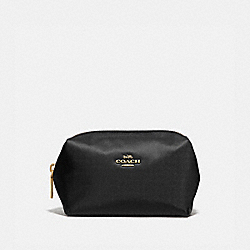 SMALL BOXY COSMETIC CASE - BRASS/BLACK - COACH 1079