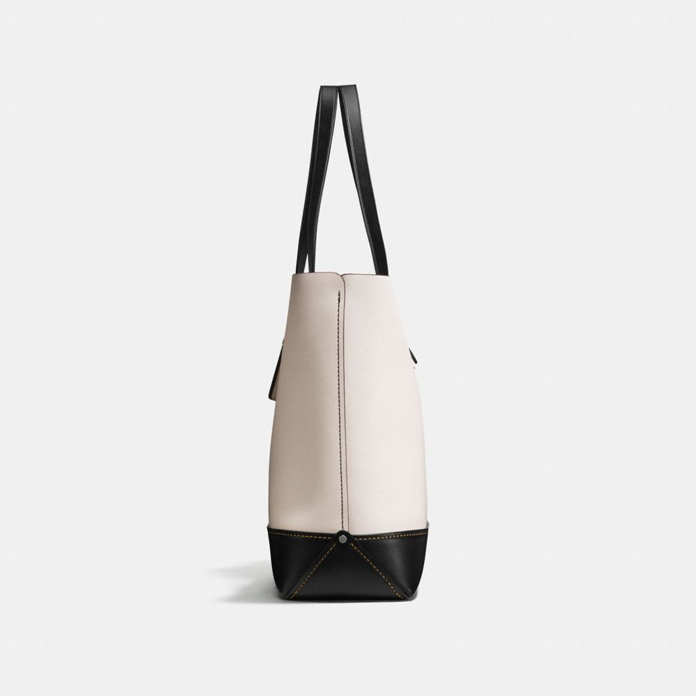 GOTHAM TOTE IN GLOVE CALF LEATHER WITH EMBOSSED SPACE - Alternate View