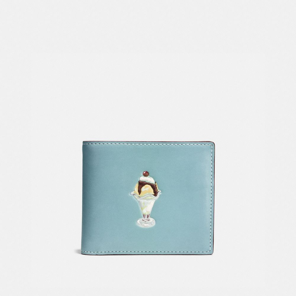 3-IN-1 WALLET IN GLOVETANNED LEATHER WITH SUNDAE