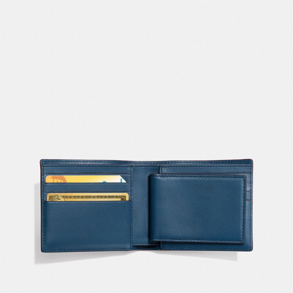 3-IN-1 WALLET IN GLOVETANNED LEATHER WITH SUNDAE - Alternate View