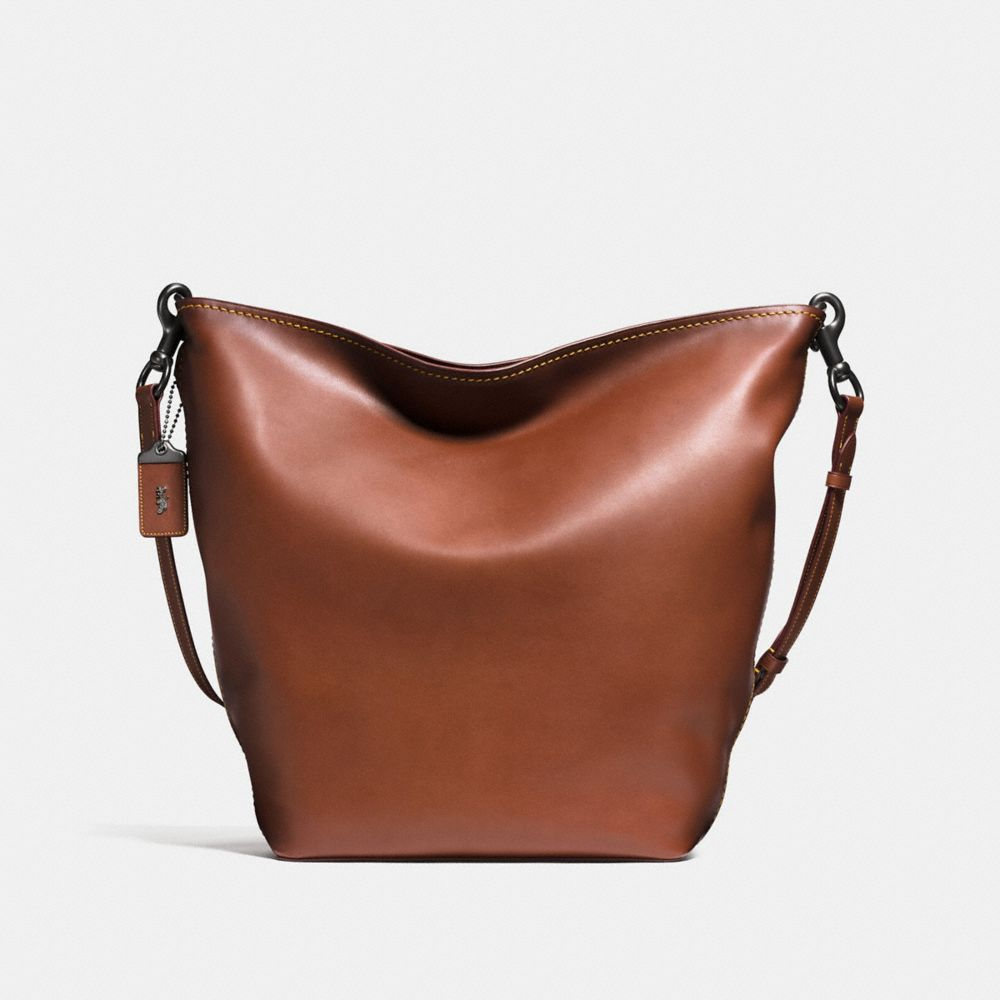 DUFFLE BAG IN BURNISHED VERY NATURAL GLOVETANNED LEATHER