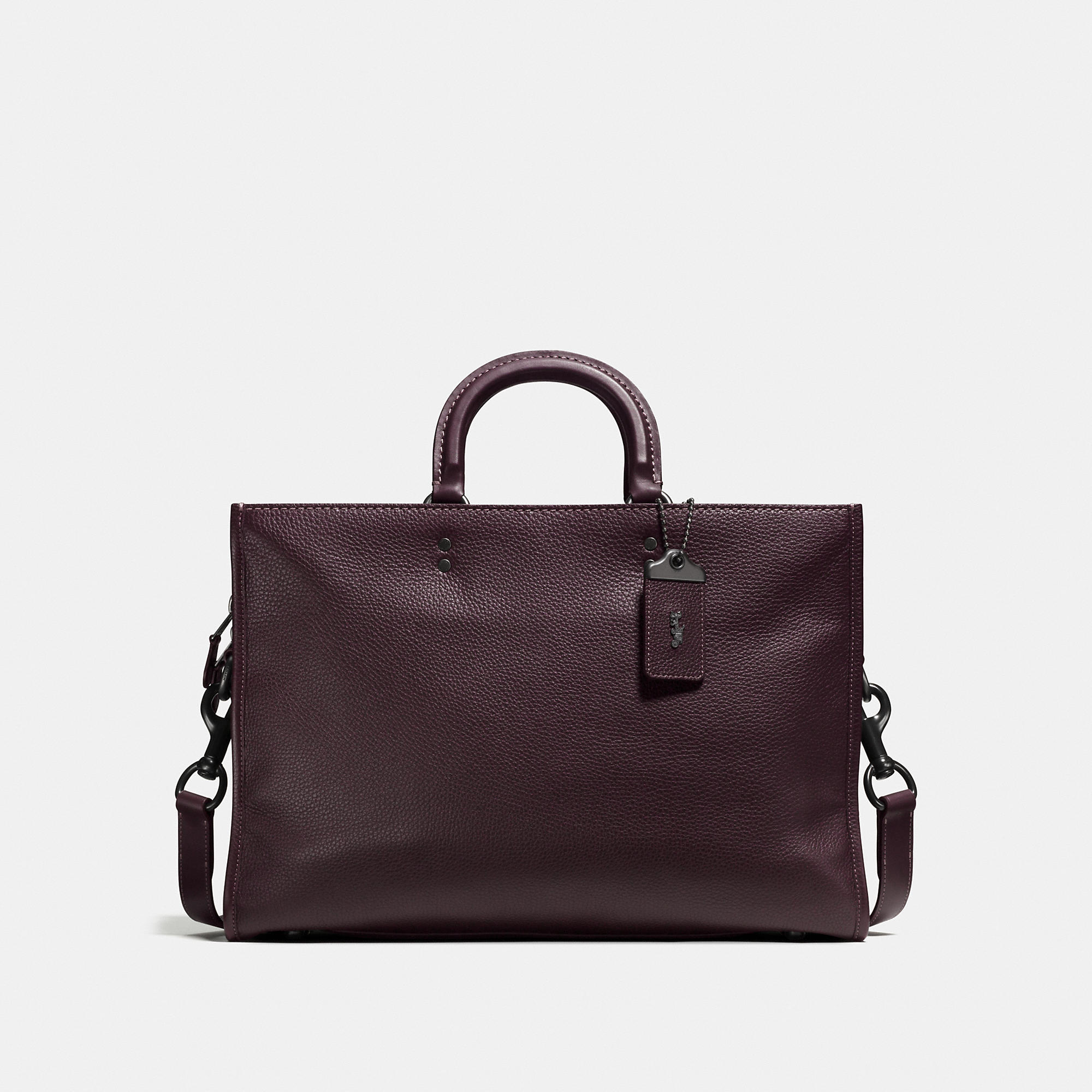 Coach Rogue Brief In Glovetanned Pebble Leather