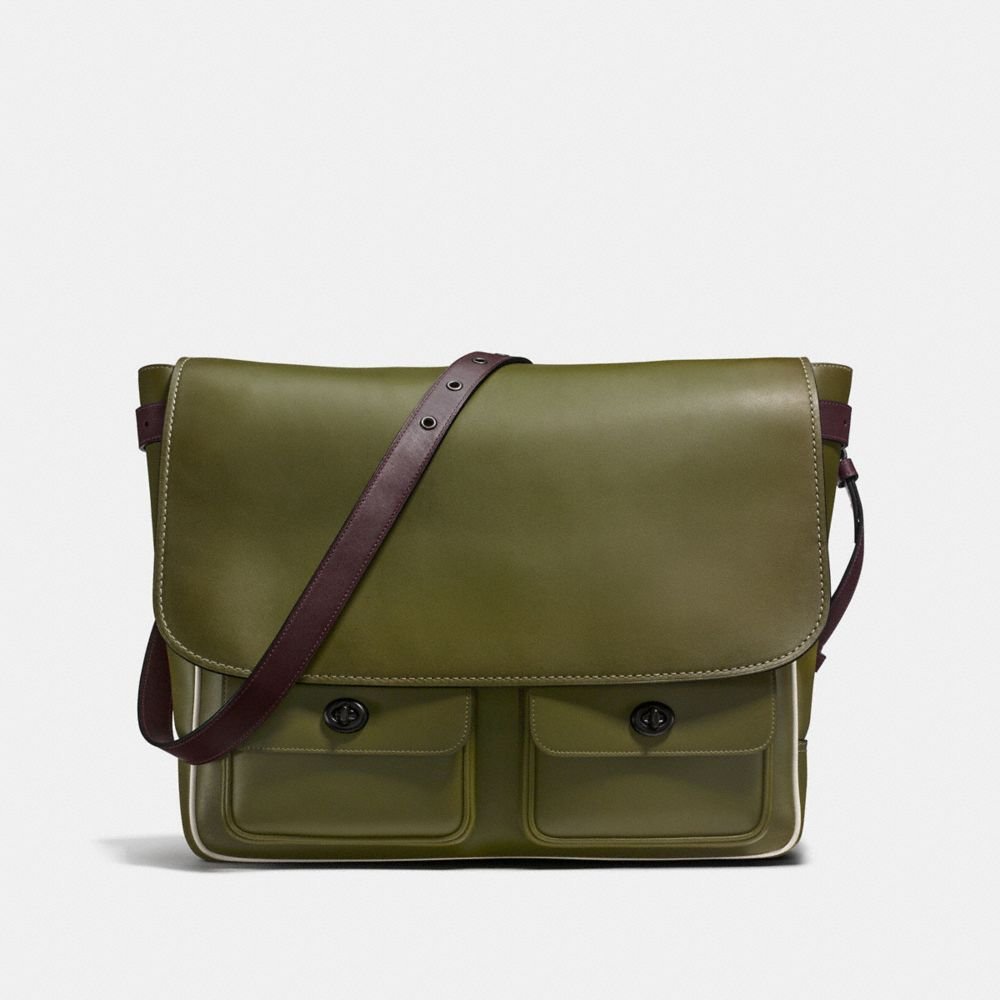 MAIL SAC IN BURNISHED GLOVETANNED LEATHER