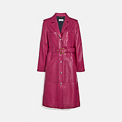 LEATHER TRENCH - TWEED BERRY - COACH 1113
