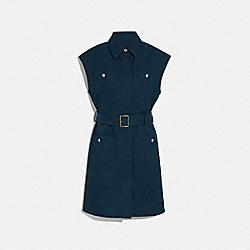 TRENCH DRESS - NAVY - COACH 1129