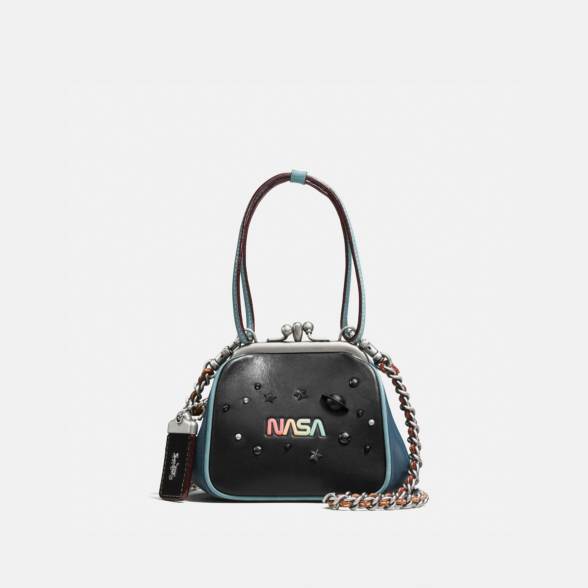 Coach Kisslock Frame Bag 23 In Glovetanned Leather With Space Embellishment