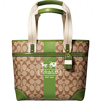 Coach Official Site - COACH HERITAGE STRIPE TOTE :  bag
