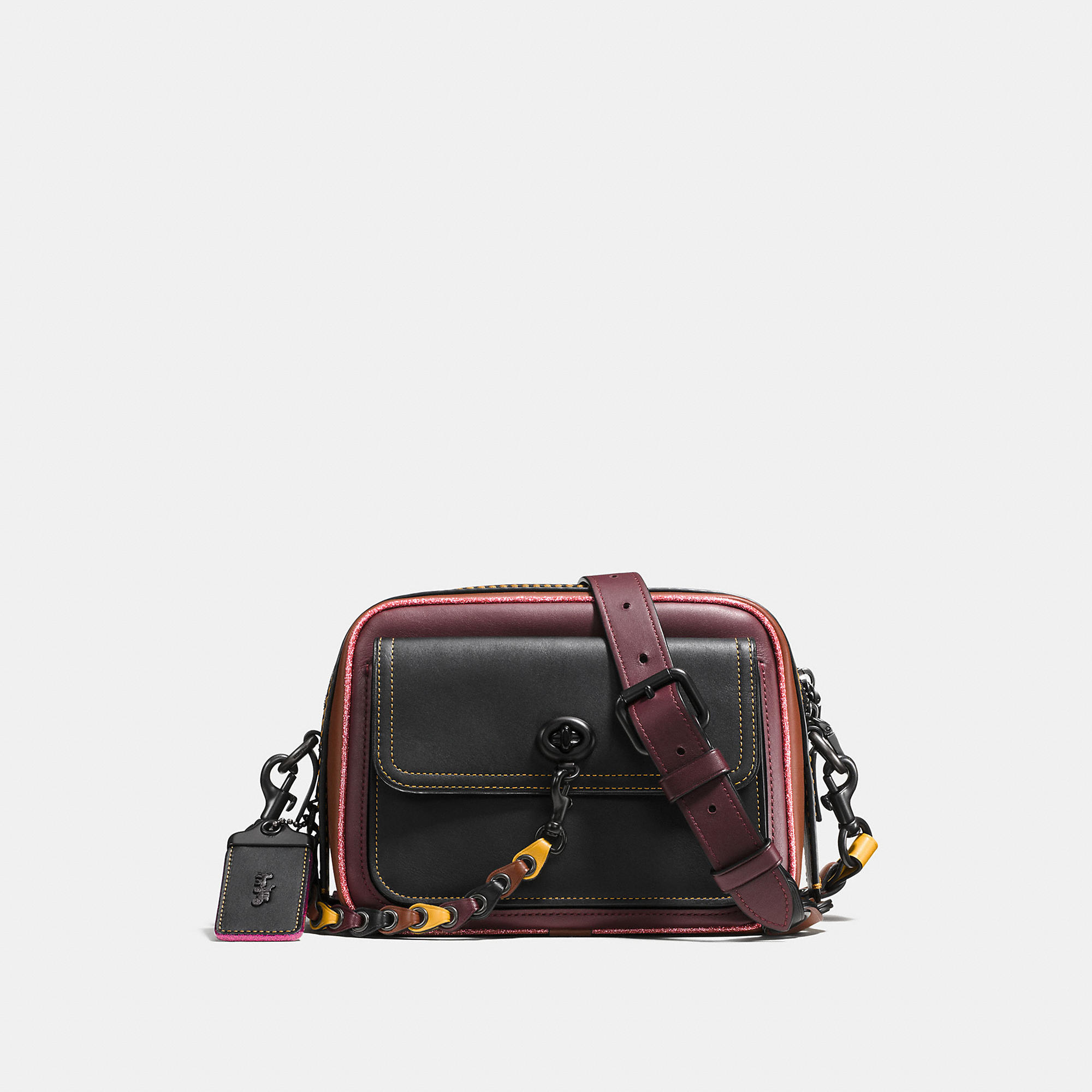 Coach Turnlock Dylan In Link Glovetanned Leather