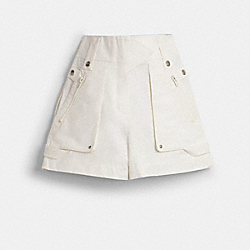 POCKET SHORTS - WHITE - COACH 1145