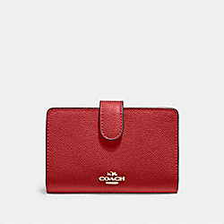 MEDIUM CORNER ZIP WALLET - IM/1941 RED - COACH 11484