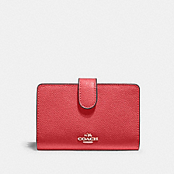 MEDIUM CORNER ZIP WALLET - IM/POPPY - COACH 11484