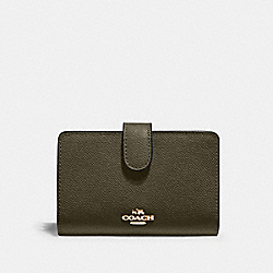 MEDIUM CORNER ZIP WALLET - IM/CANTEEN - COACH 11484