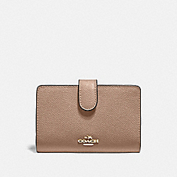 MEDIUM CORNER ZIP WALLET - IM/TAUPE - COACH 11484