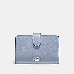 MEDIUM CORNER ZIP WALLET - SV/MIST - COACH 11484