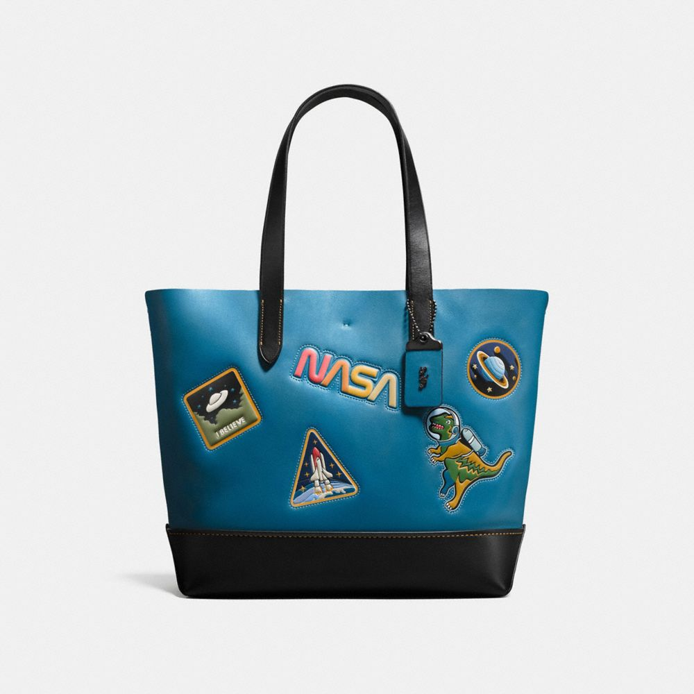 GOTHAM TOTE WITH SPACE PATCHES
