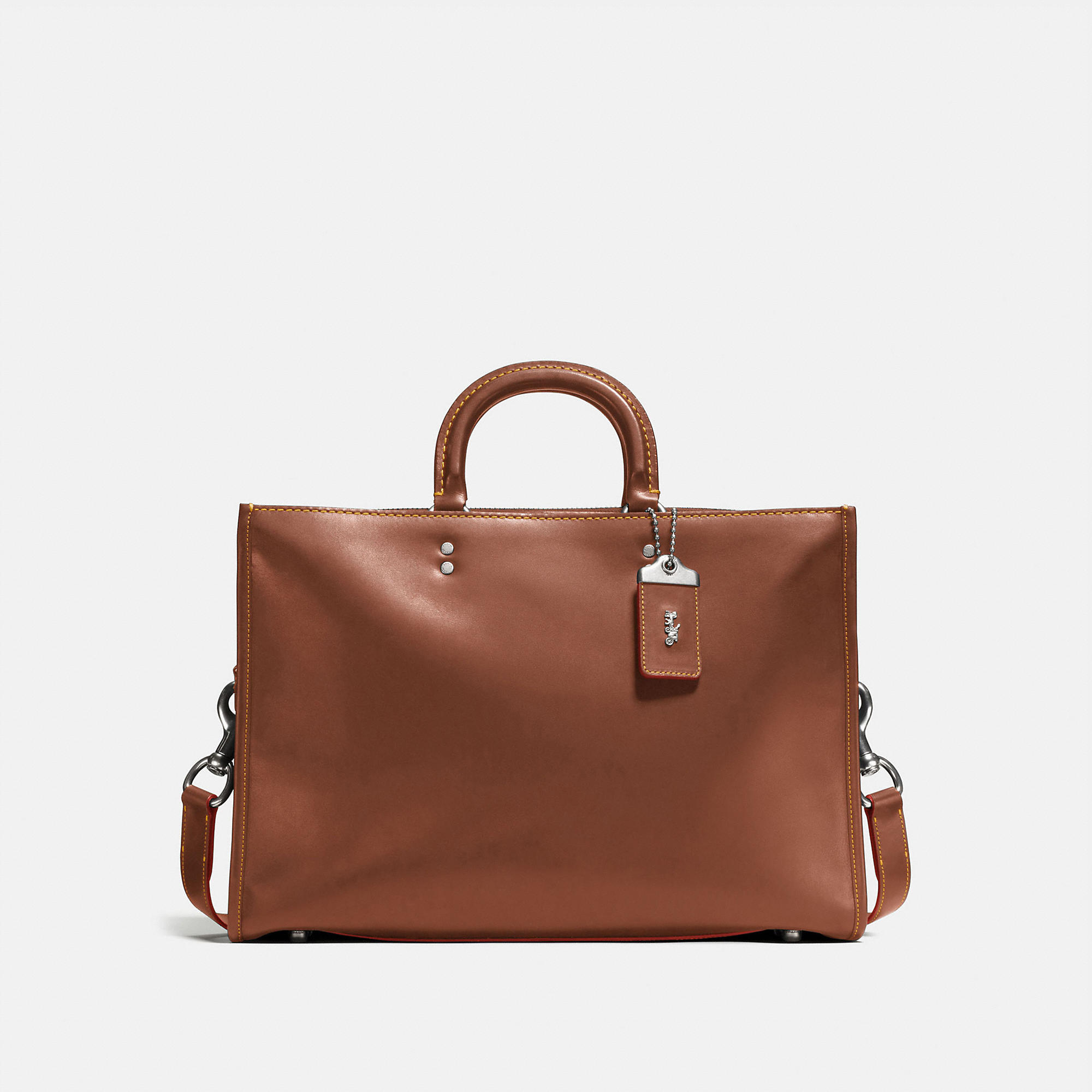 Coach Rogue Brief In Natural Glovetanned Leather