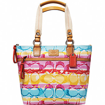 Coach Official Site - HAMPTONS WEEKEND STRIPE MEDIUM TOTE :  coach tote colors bag